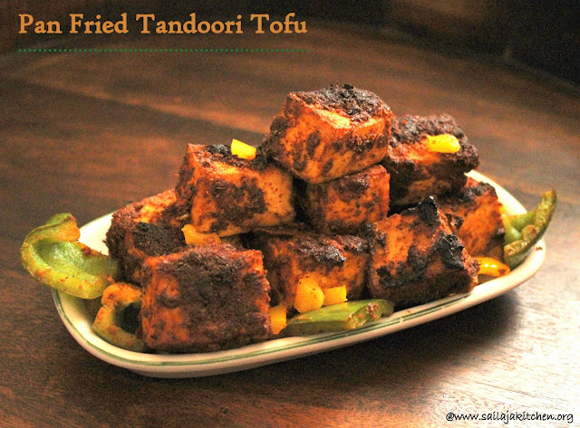 images of Tandoori Tofu / Baked Tandoori Tofu / Tofu Recipes