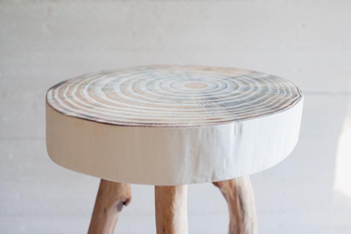 raw wood stool