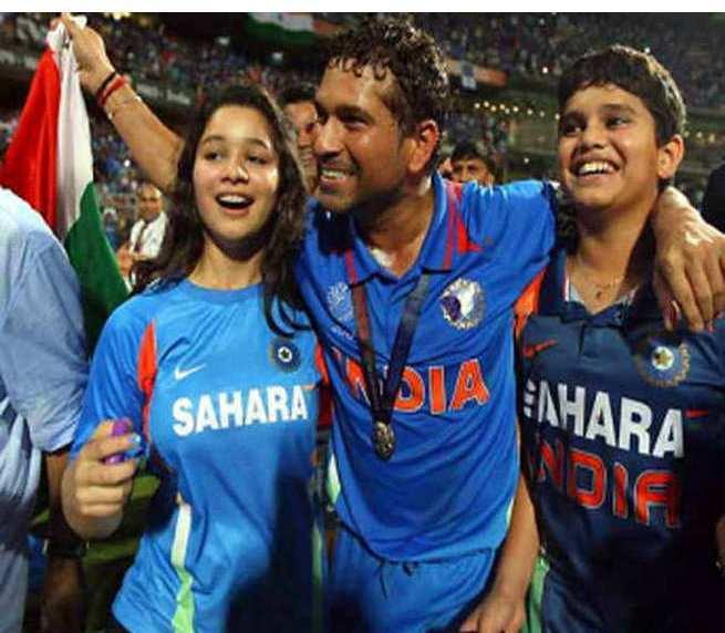 Sara Tendulkar with Sachin at world cup winning day, Arjun Tendulkar at Wankhede on world cup winning day