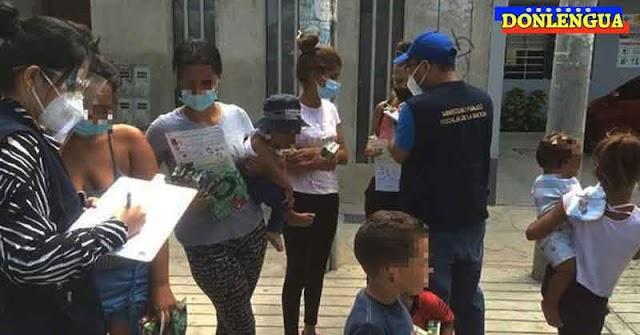 Policías peruanos encuentran a varios niños venezolanos pidiendo limosna en las calles de Piura