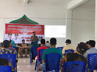 Kapolsek Malua Polres Enrekang Menghadiri Sosialisasi Perbup di Desa Tallung Tondok