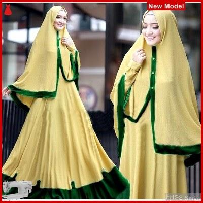 FHGS9184 Model Syari Layla Alpukat, Perempuan Baju Muslim Jersey BMG