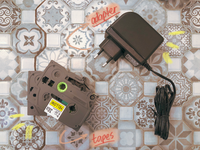 Patty Villegas - The Lifestyle Wanderer - Brother - P- Touch Cube - Label Maker - Tapes And adapter