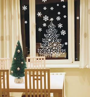 Decoración navideña ventana