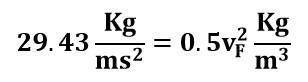 Reordenando la ecuación de Bernoulli entre los puntos A y F del ejemplo 2