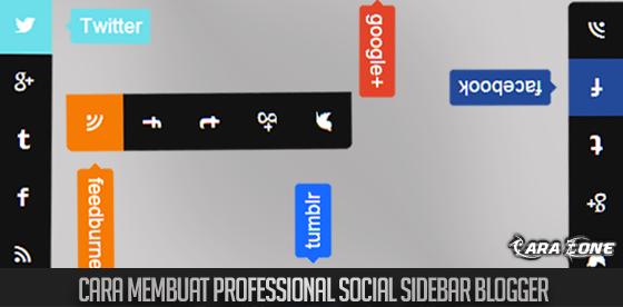 Cara Membuat Professional Social Sidebar Blogger