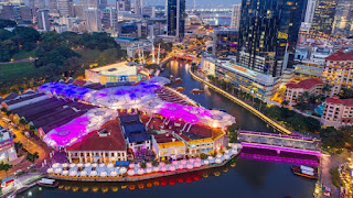 Top view of Clarke Quay