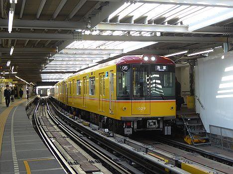 銀座線 浅草行き3 1000系(2016年 渋谷駅改良工事中に撮影)