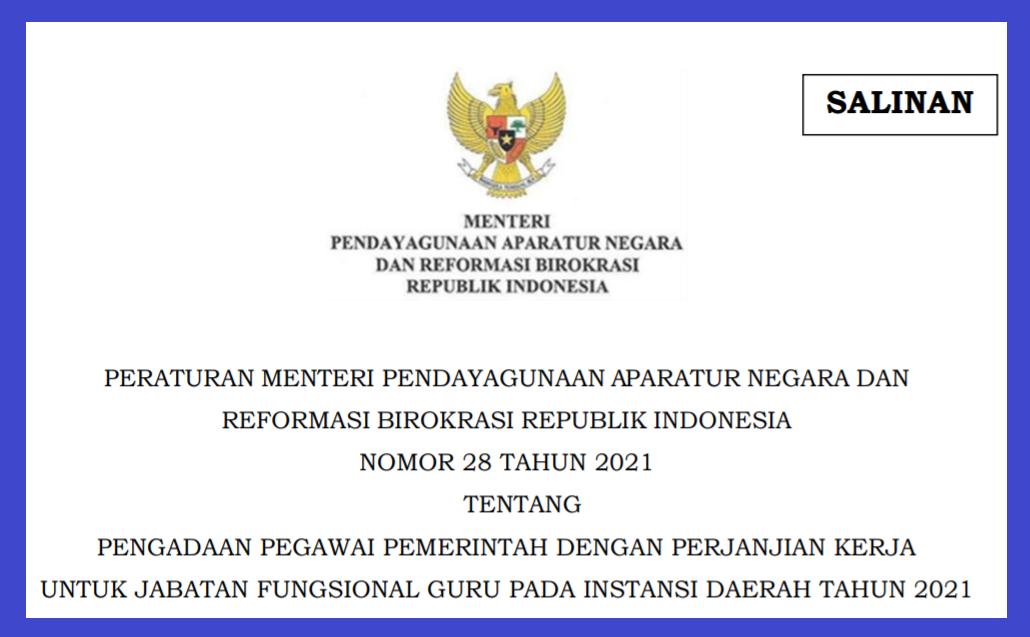 gambar Permenpan RB No 28 Tahun 2021 PDF