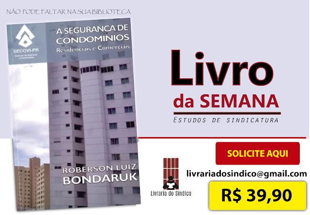 """Promoção de venda do livro """"A segurança de Condomínios"""""""