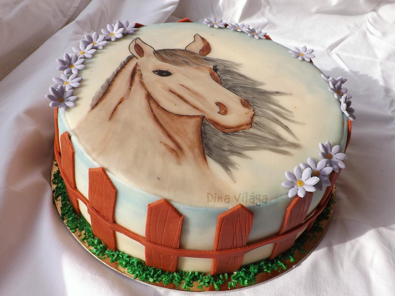lovas torta képek Festett lovas torta / Horse cake lovas torta képek