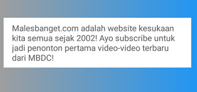 Deskripsi Channel Youtube Parodi Menarik