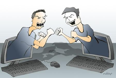 các cuộc tranh luận vô nghĩa trên mạng xã hội