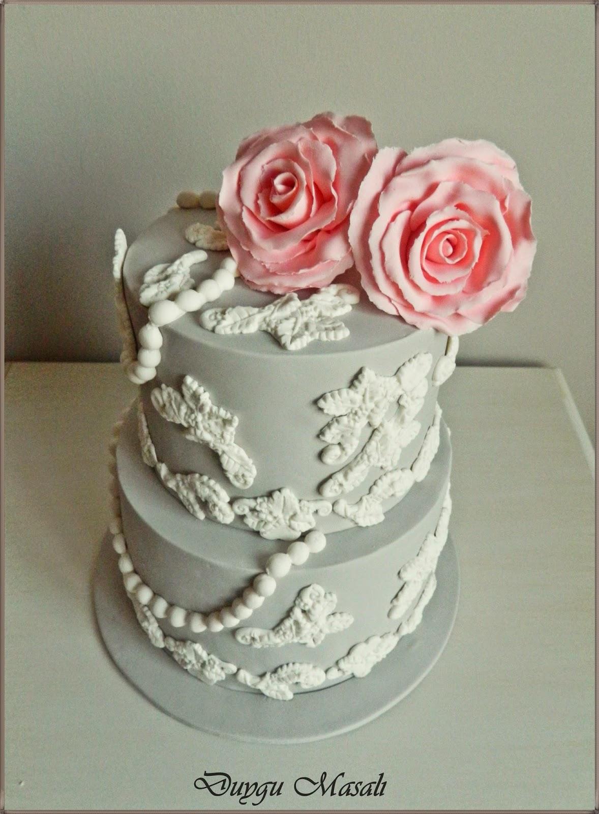edirne vintage nişan pastası