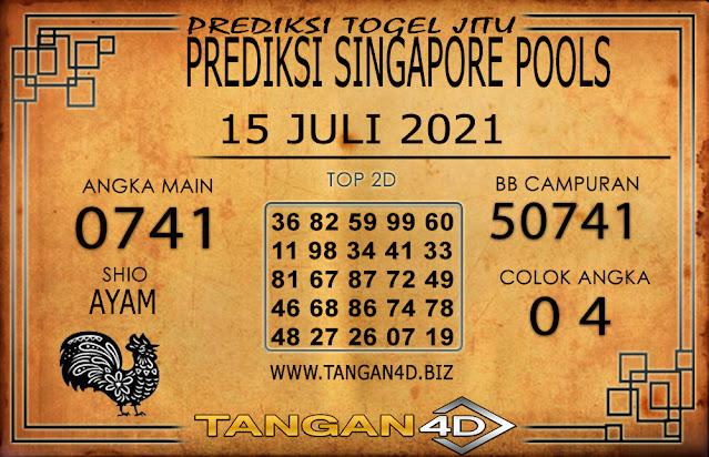 PREDIKSI TOGEL SINGAPORE TANGAN4D 15 JULI 2021