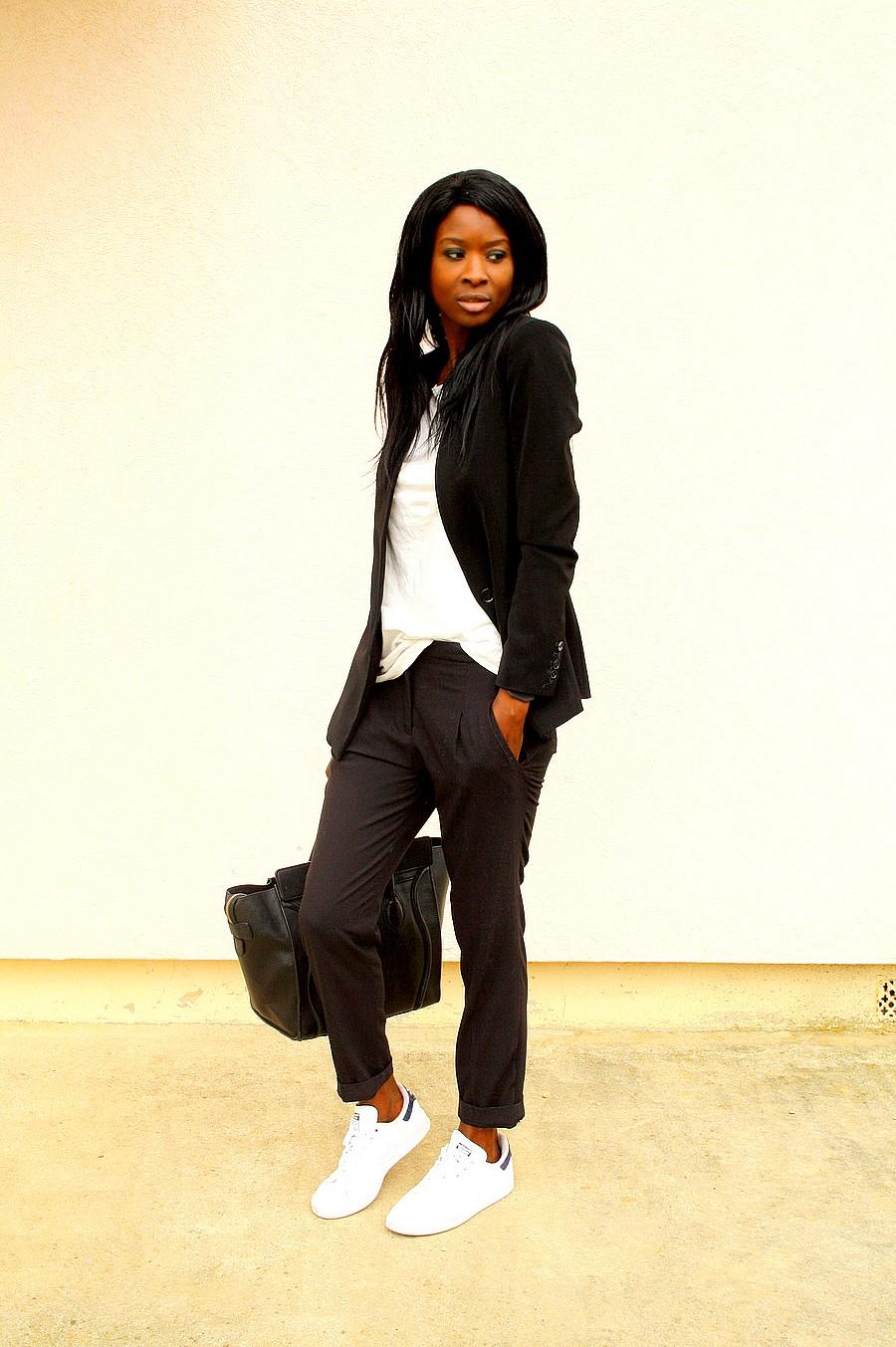 tailleur-baskets-adidas-stan-smith-sac-celine-luggage-blog-mode
