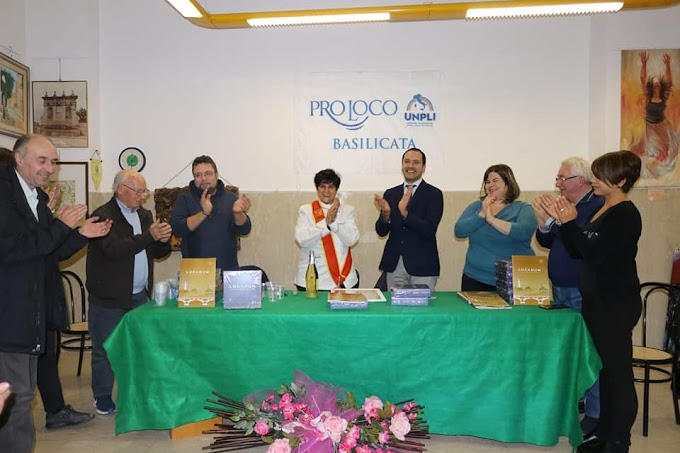 La Pro Loco Barile e l'Unpli Basilicata omaggiano la chef Silvana Felicetta Colucci