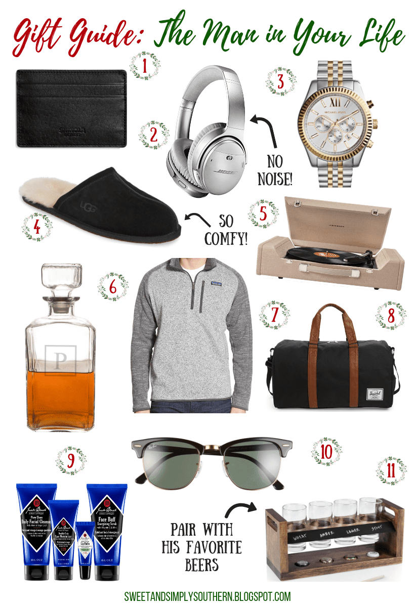 gift guide for the man in your life