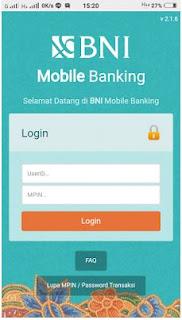 Cara mudah daftar dan aktifasi BNi mobile banking melalui customer service bank BNI
