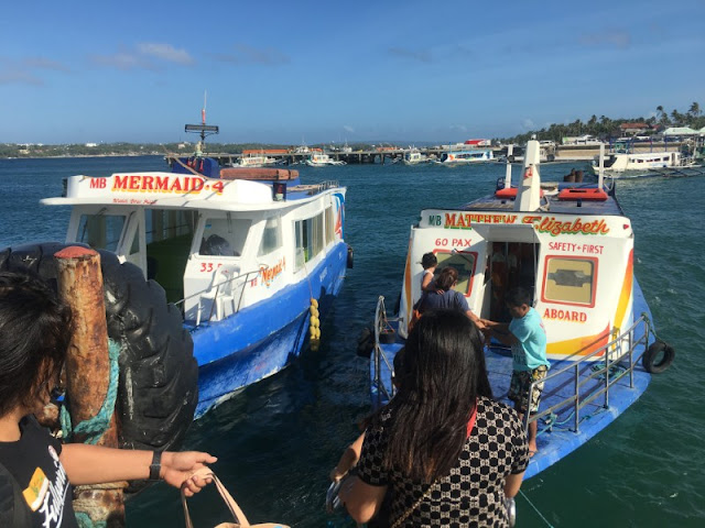 Pumboat bound for Cagban Jetty Port from Caticlan Jetty Port