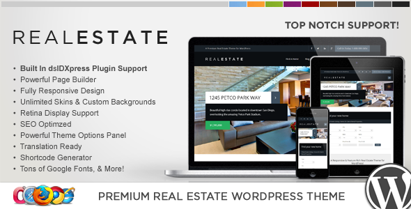 Premium WP Real Estate Template