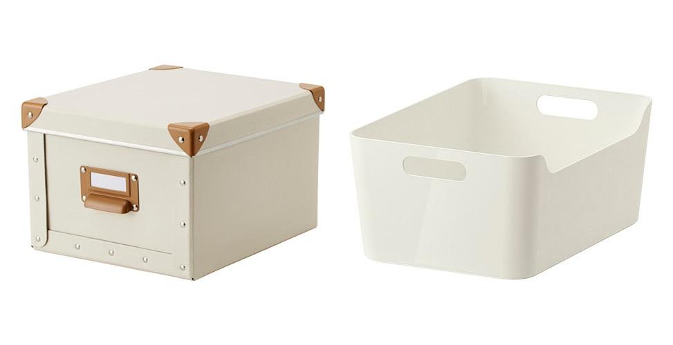 Blondiemane back to school id es d 39 organisation pour les - Ikea boite de rangement plastique sous lit ...