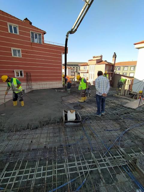 beton dökümü, şantiye çalışmaları, şantiyede beton