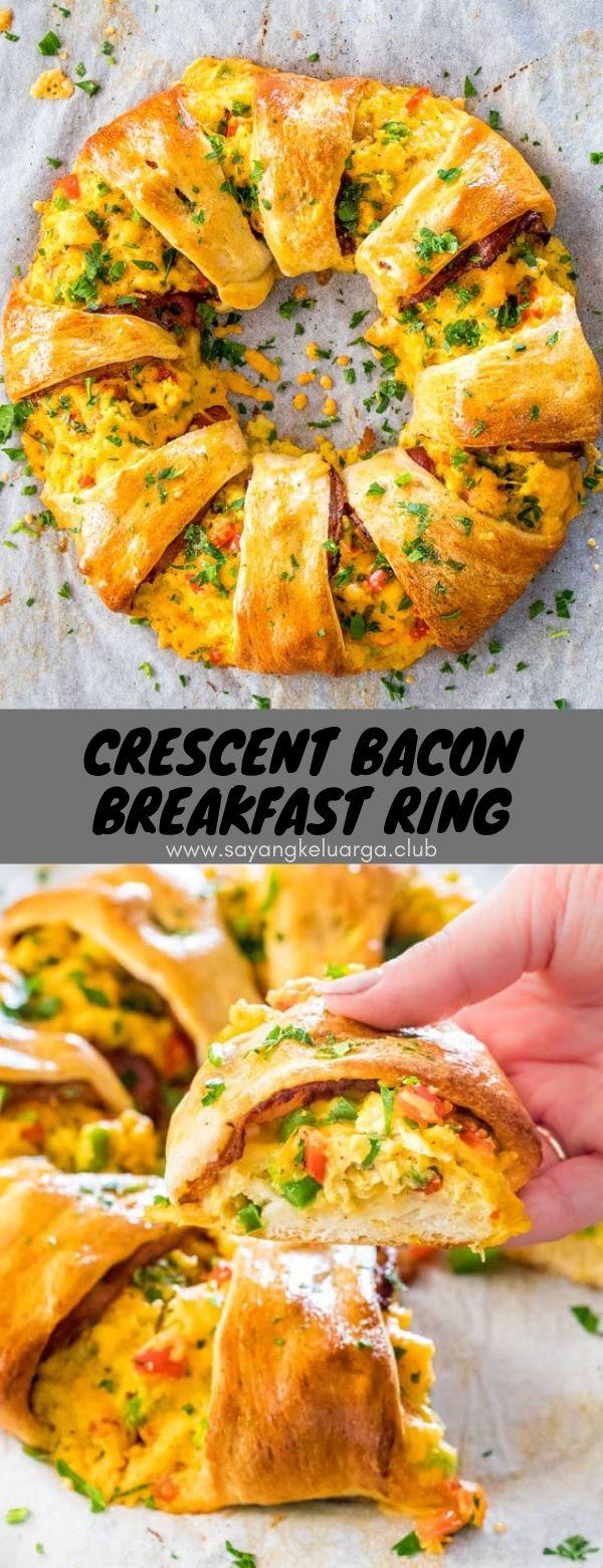 Crescent Bacon Breakfast Ring #crescent #bacon #breakfast #ring