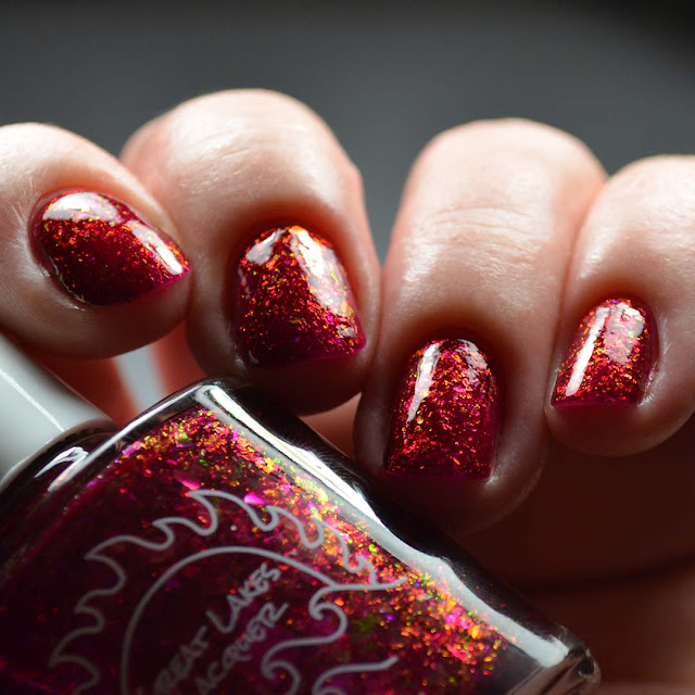red flakie nail polish