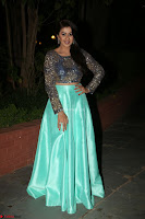 Nikki Galrani in Green Skirt  Top at Marakathamani music launch ~  Exclusive (4).JPG