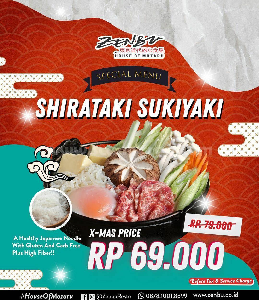 Promo Zenbu Resto X–Mas Edition Shirataki Sukiyaki Hanya Rp 69.000