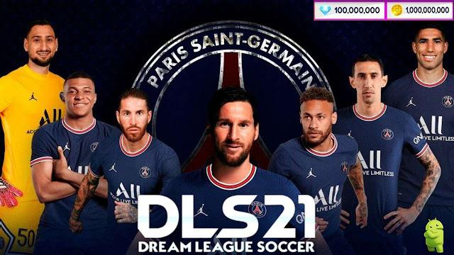 Download DLS 21 APK Messi on PSG Hack Profile.dat Unlimited Coins