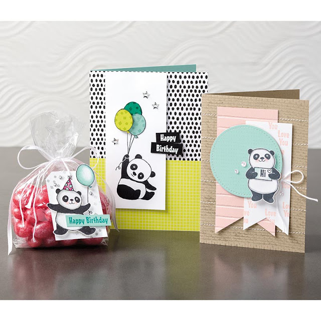 Have a closer look at the Party Pandas stamp set by Stampin' Up! available during Sale-A-Bration