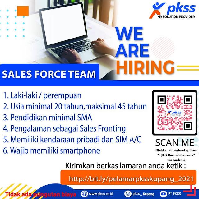 Loker Kupang Sales Force Team di PKSS Cabang Kupang