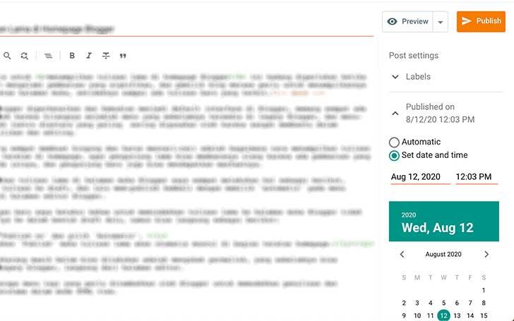 Menampilkan Tulisan Lama di Homepage Blogger