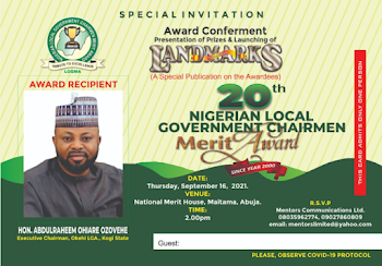 Thank you 774 local Government Chairmen in Nigeria.  Thank you His