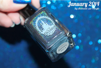 Comparison of Blue holographic nail polishes from Enchanted Polish