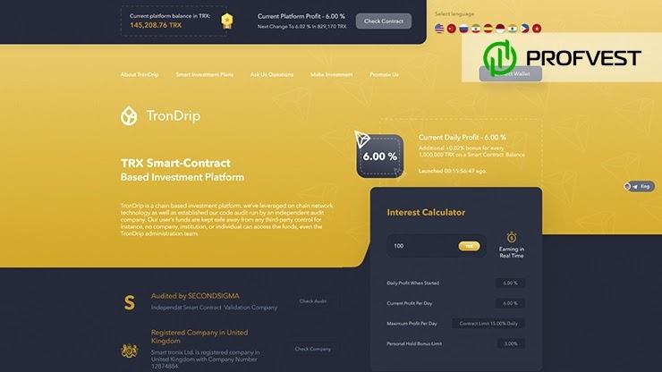TronDrip обзор и отзывы HYIP-проекта