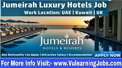 Jumeirah Hotel Group Career & Jobs 2019 In Middle East