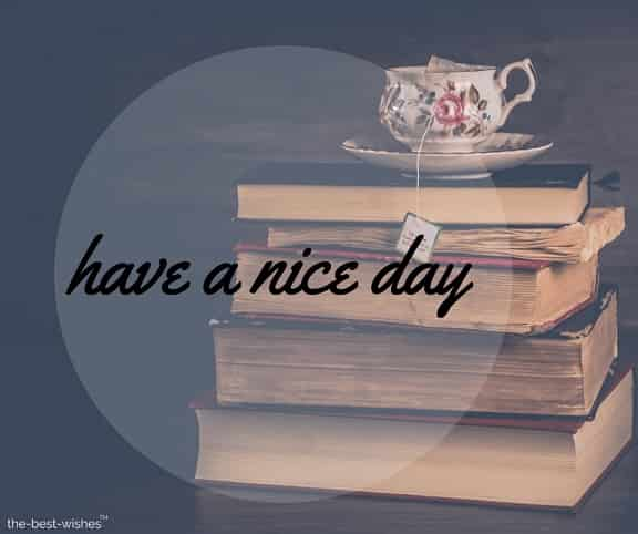 books wallpaper with have a nice day