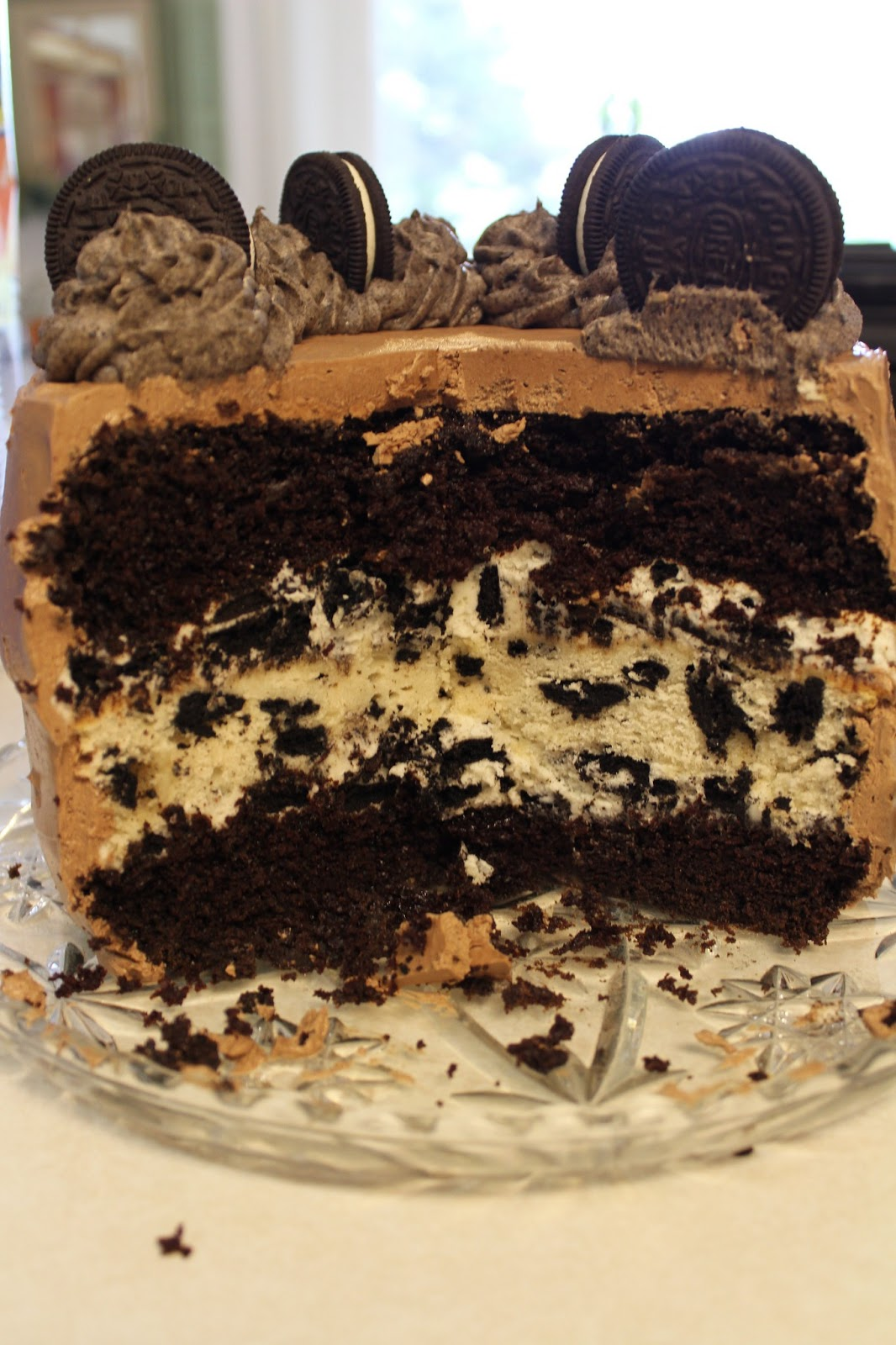Blog As You Bake Triple Layer Oreo Cake