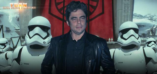 Actorul Benicio Del Toro, confirmă că a primit rolul unui personaj negativ din Star Wars Episode VIII