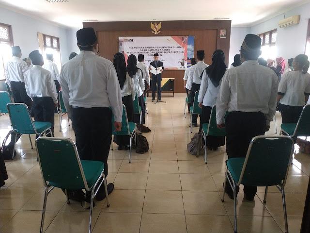 Kodim Sragen - Babinsa Karangtengah Pantau Pelantikan PPS Se Kecamatan Sragen