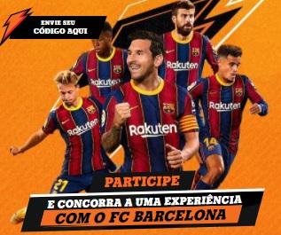 Cadastrar Experiência Gatorade 2021 Barcelona FC