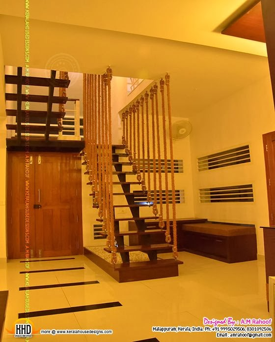 Stair case designed with coir