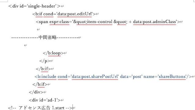 HTML編集画面