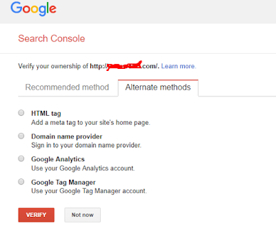 Alternate Methods for Google Webmasters tools