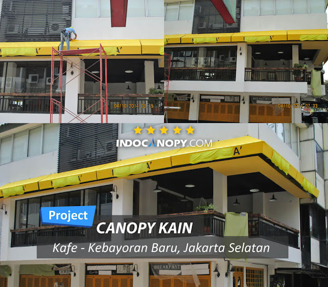 canpy kain awning for cafe