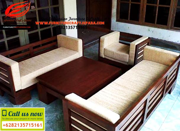 set kursi sofa ruang tamu minimalis warna natural simpel