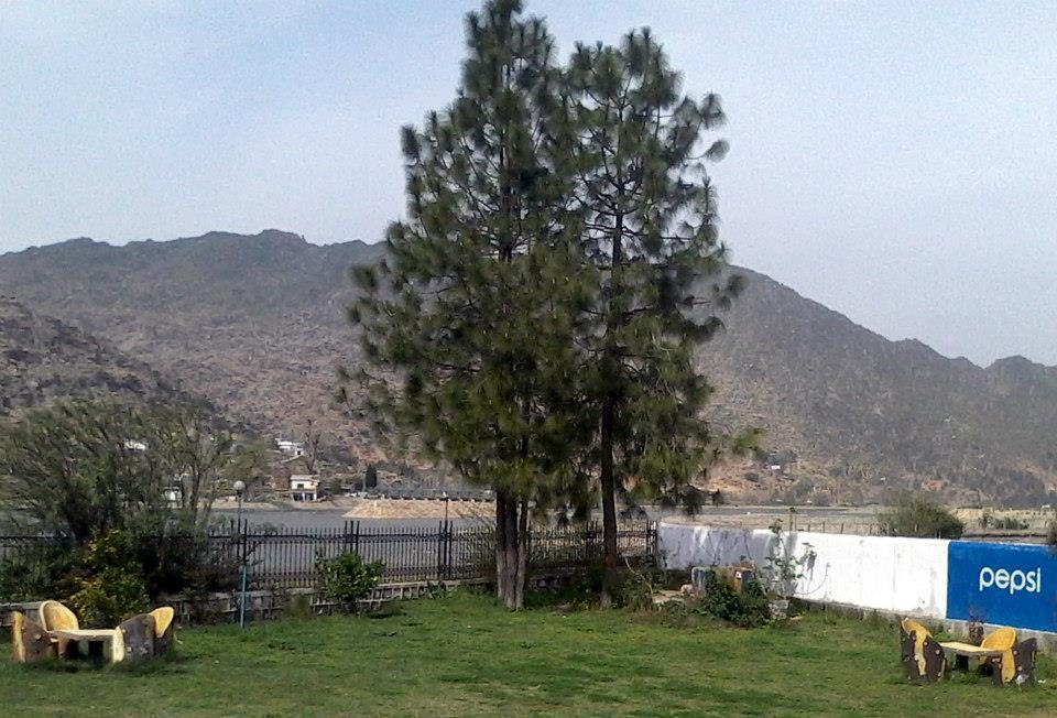 Swat River as seen from the lawn of PTDC Motel & Restaurant Chakdarra (Malakand-Saidu Road). Pakistan